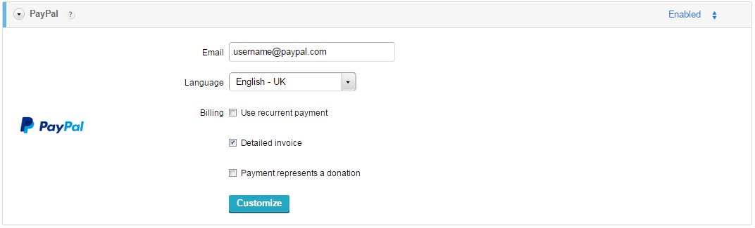 Adding PayPal to your WordPress order forms – CaptainForm ...