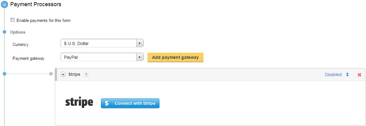 Adding Stripe to your WordPress order forms – CaptainForm