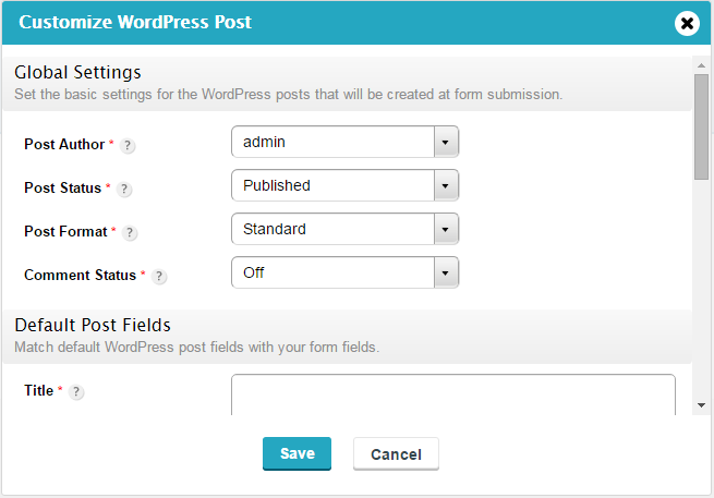 create posts in wordpresss through form