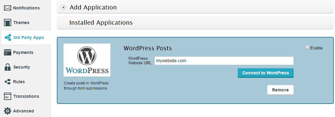 add wordpress posts from form