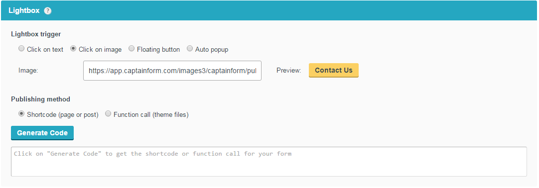 lightbox forms wordpress plugin