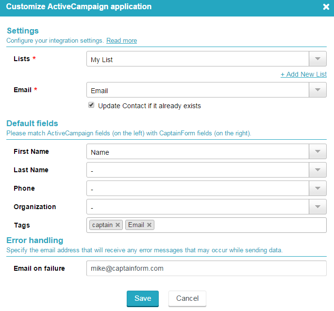 activecampaign forms for wordpress