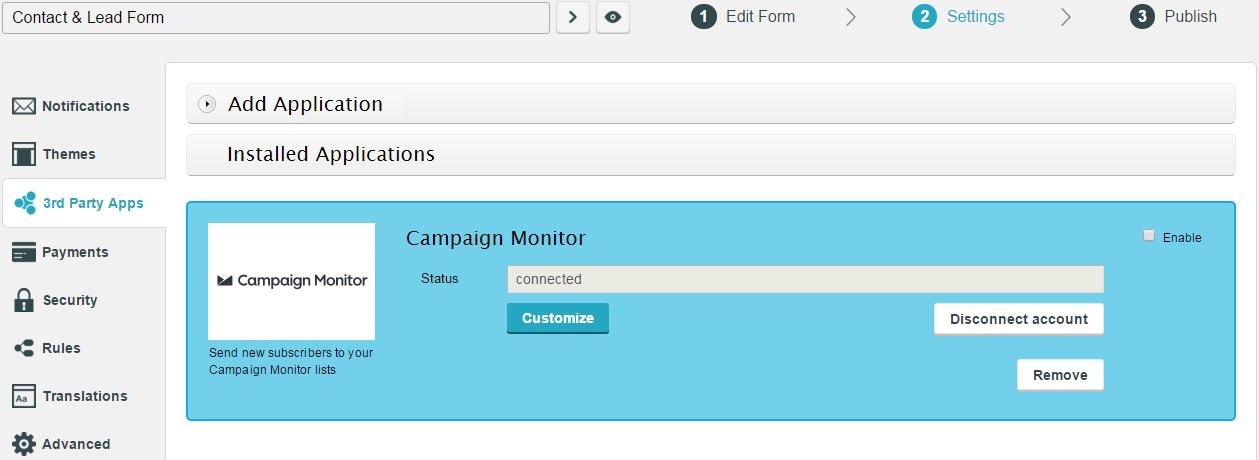 campaign monitor wordpress form addon