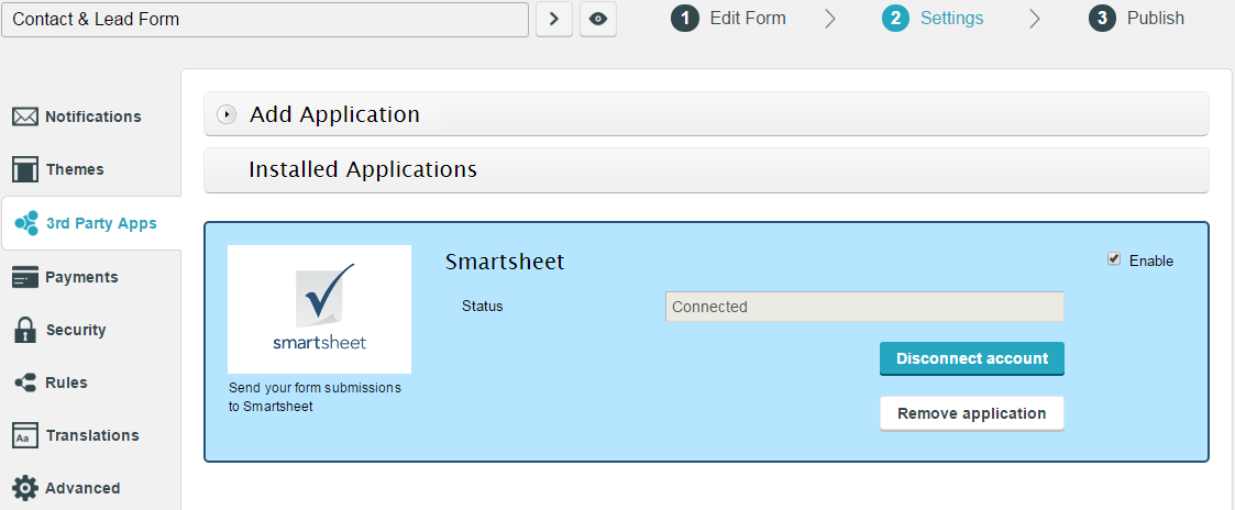 smartsheet integration for wordpress forms