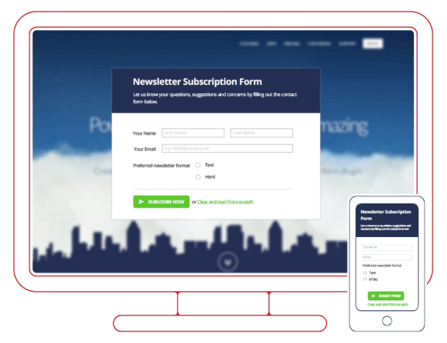 get more leads with a newsletter subscription form captainform