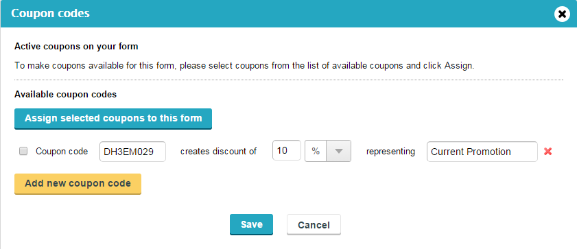 Coupon Codes for Order Form - WordPress Form Builder Plugin