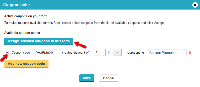 Coupon Codes for Payment Form - WordPress Form Builder Plugin