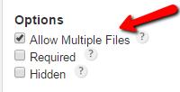 Multiple Files Upload - WordPress Form Creator