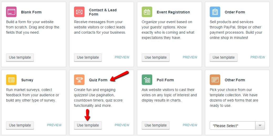Online Quiz - WordPress Form Builder Plugin
