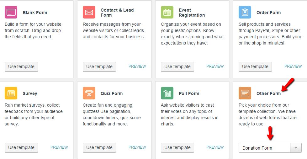 WordPress Donation Forms - CaptainForm WordPress Form Builder Plugin