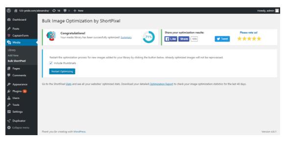 ShortPixel- a useful compression tool