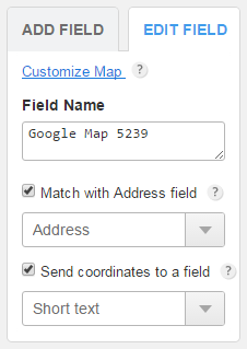 Can I retrieve an address and coordinates from Google maps
