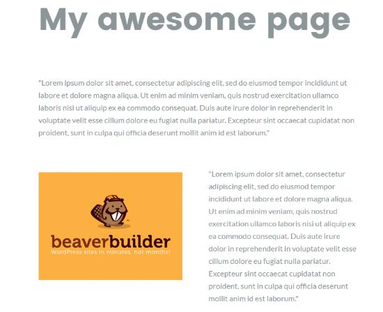Beaver Builder Columns