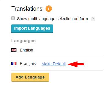 CaptainForm-default language