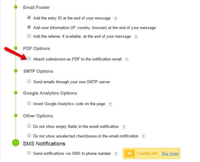 pdf notifications captainform